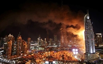New Year Fire at Downtown Address Hotel  UAE