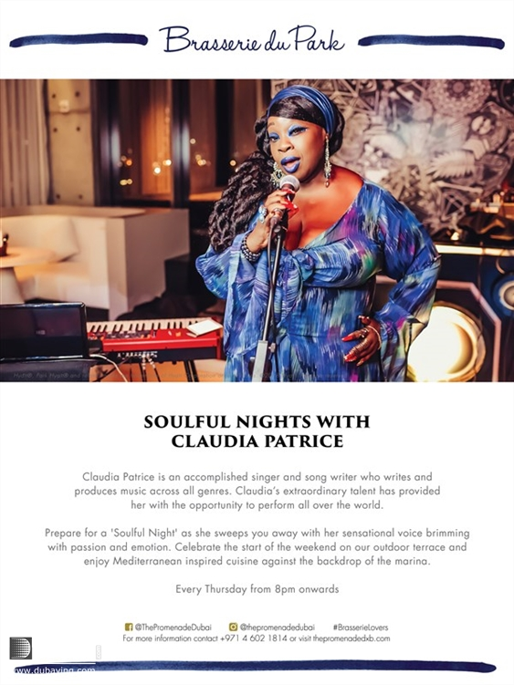 Activity Downtown Dubai Nightlife and clubbing Soulful Nights with Claudia UAE