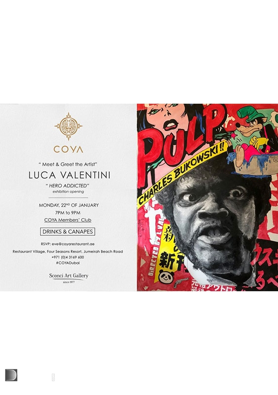 Coya Dubai Jumeirah Festivals and Big Events Art exhibition by Luca Valentini at Coya Dubai UAE