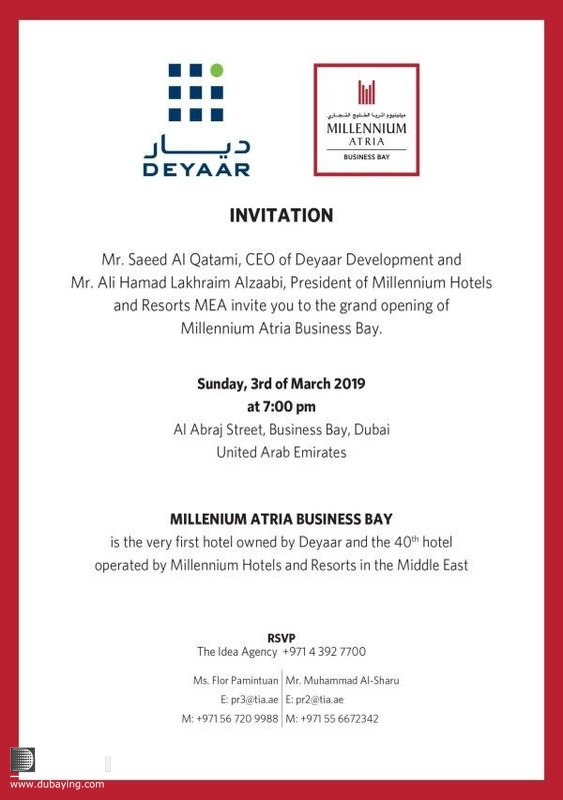Activity Downtown Dubai Social Grand Opening of Millennium Atria Business Bay UAE