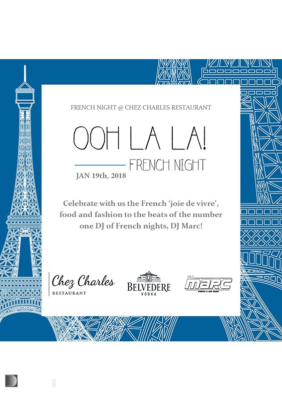 Chez Charles Business Bay Nightlife and clubbing French Night at Chez Charles UAE